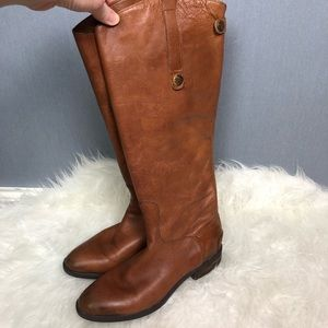 Sam Edelman Penny leather riding boots whiskey 8.5